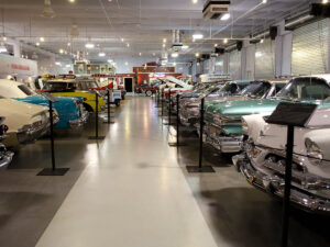Classic Cars Museum Rows of Cars